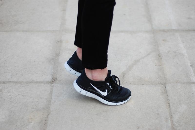 nike free run 3 damskie czarne