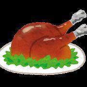 七面鳥・鶏肉の丸焼きのイラスト