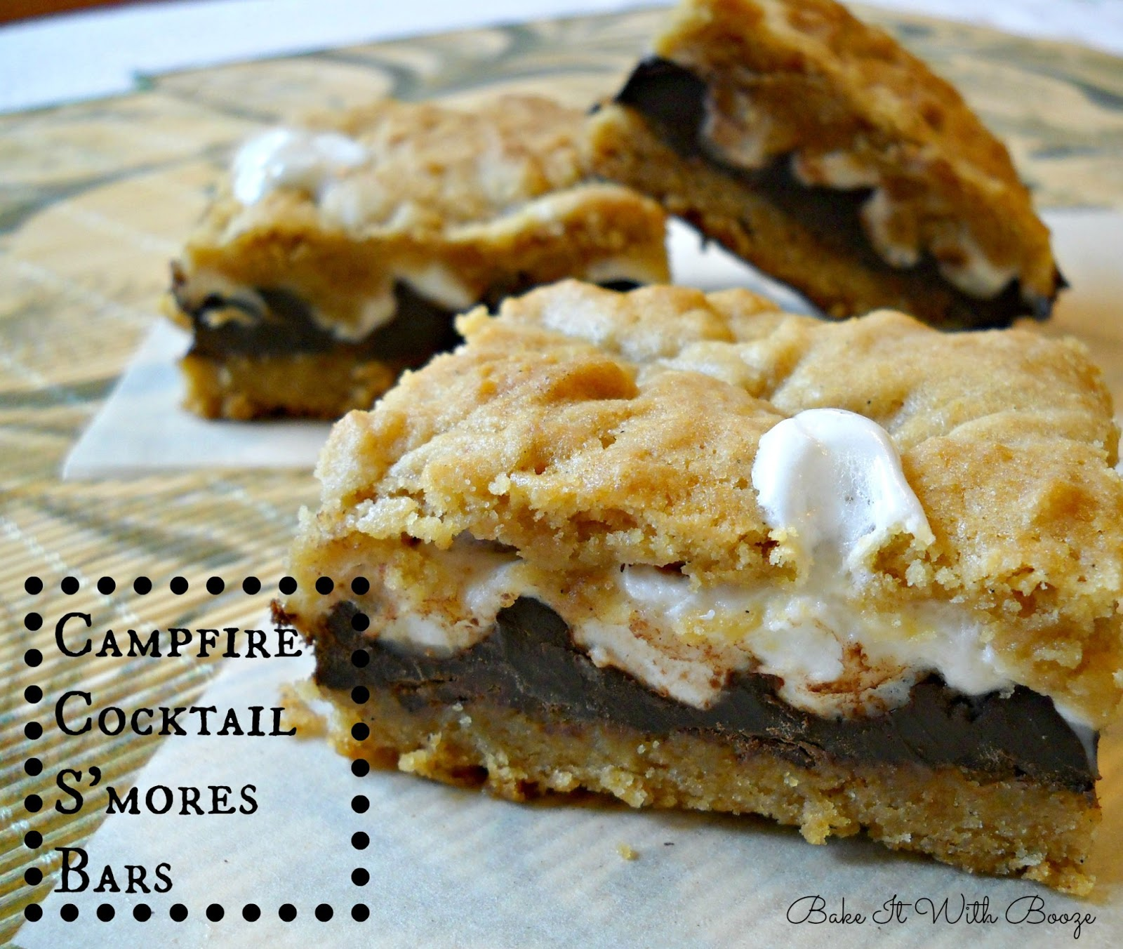 Campfire Cocktail S'mores Bars