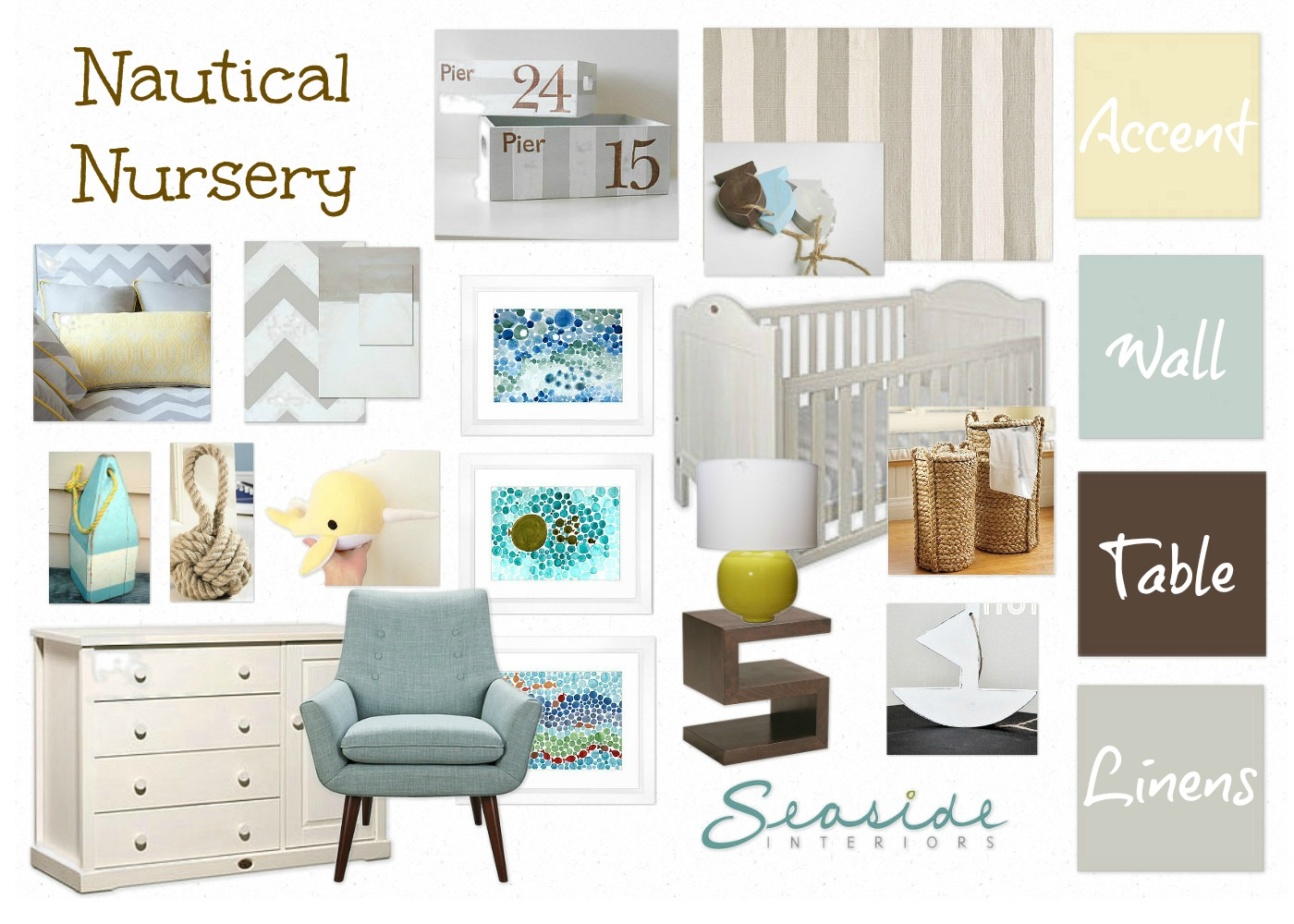 Not Your Typical Nautical Nursery But It Might Just Be My Favorite She Wanted To Soft And A Place That They Could Relax With The Baby I Think