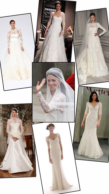 to right Pronovias Monique Lhuillier Wtoo Brides Elizabeth Fillmore