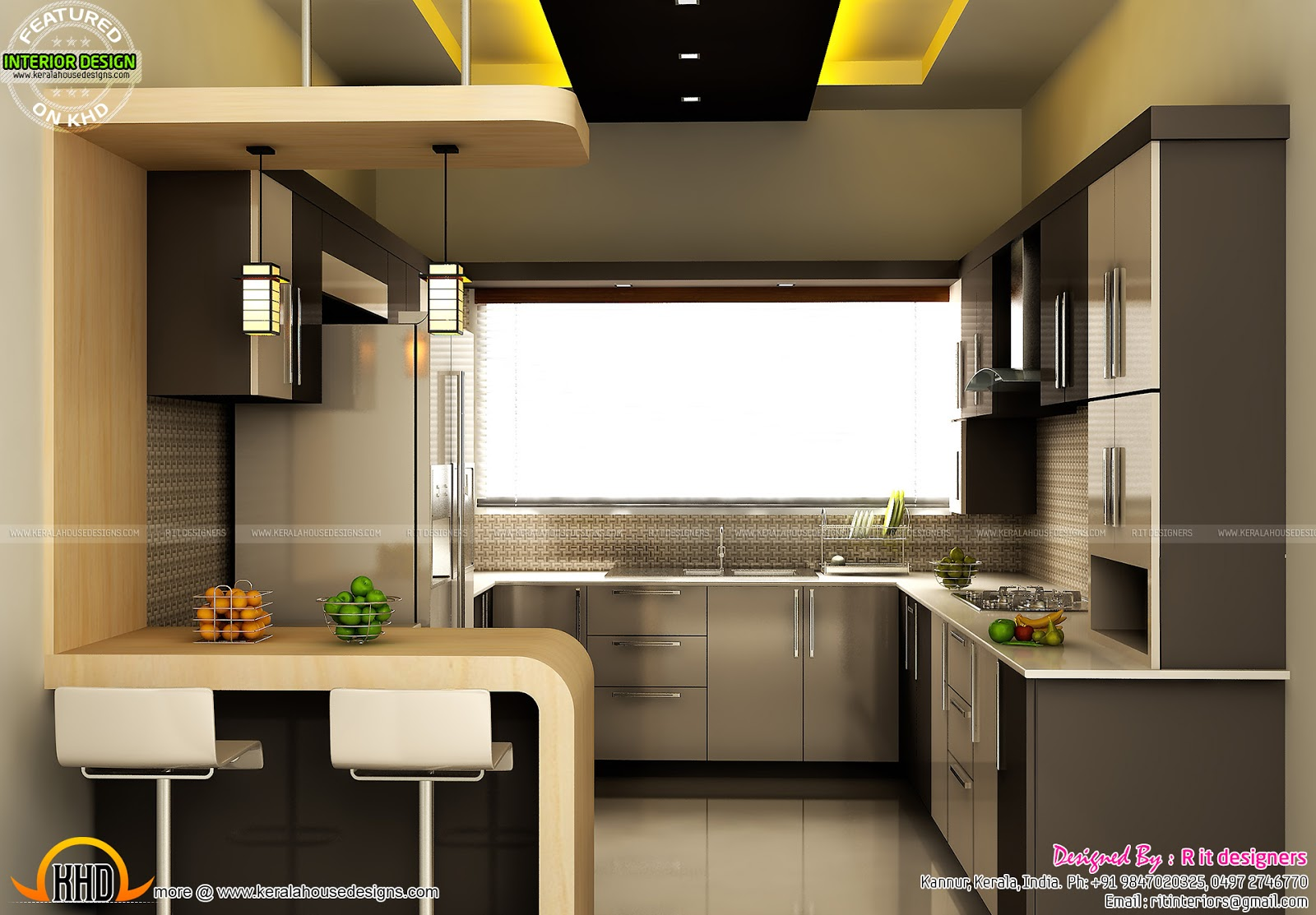 modular kitchen dining and bedroom interior kerala home modular kitchen living and bedroom interior kerala home