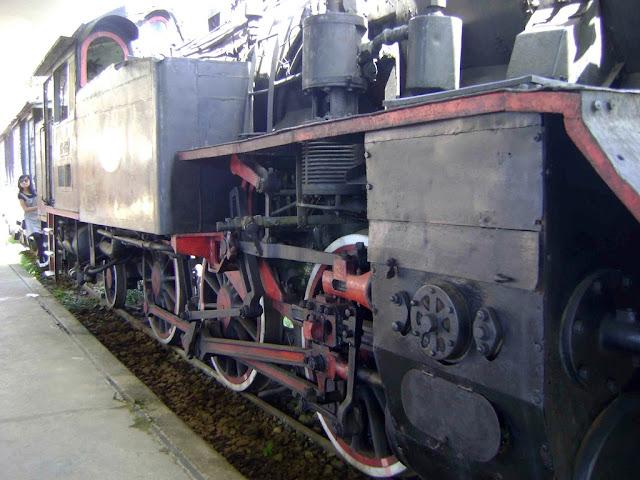 Locomotora del museo del tren de Dalat