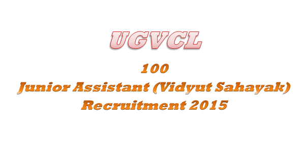 UGVCL 100 Junior Assistant 2015