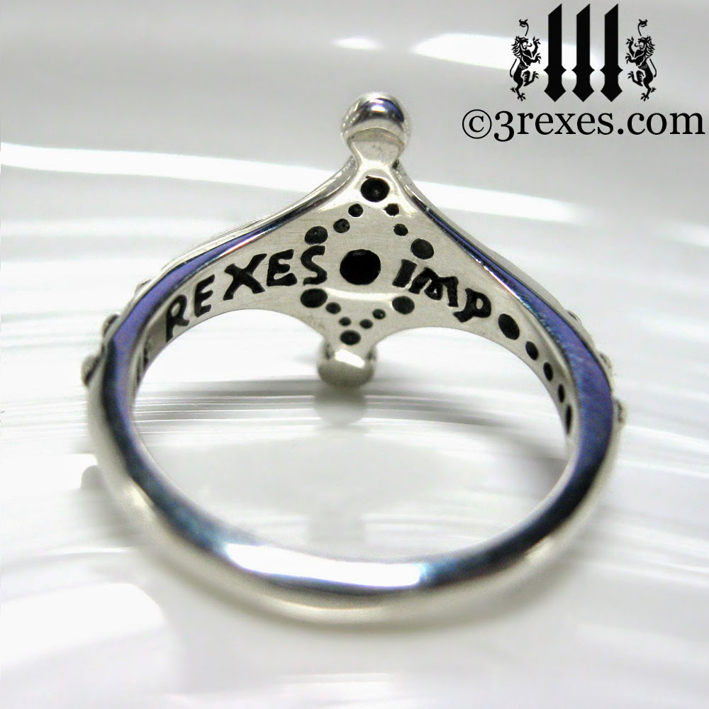 Imp Silver Fairy Ring Friendship Ring Back View