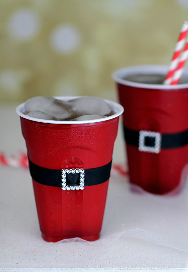 Santa Belly Plastic Solo Cups for Entertaining
