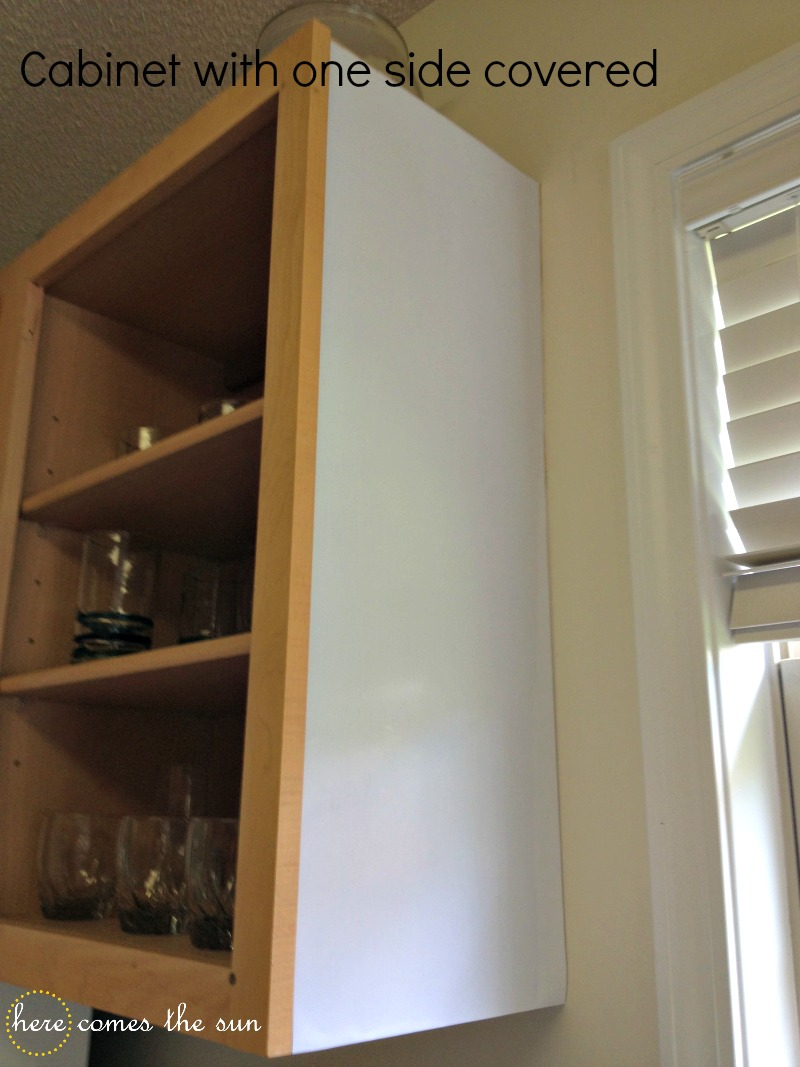 The Underside And The Front Face Of Each Shelf With Contact Paper