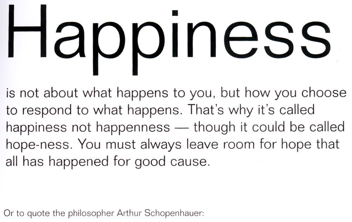got happiness