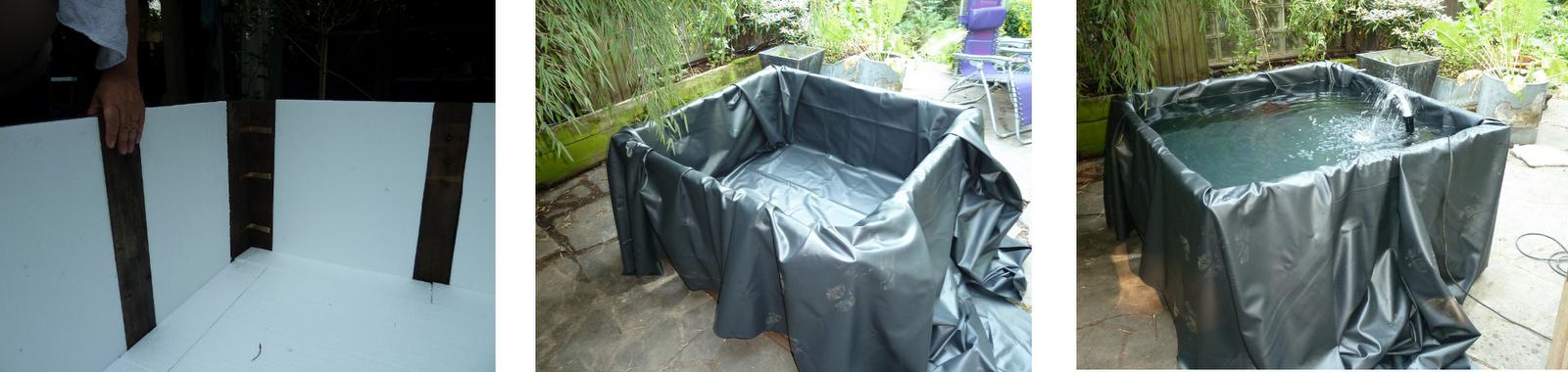 Bricuisir un bassin de terrasse avec du mat riel de for Materiel de bassin