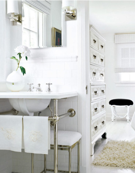 Powder Room Sinks Pleasing Of Elle Decor All White Bathrooms Images