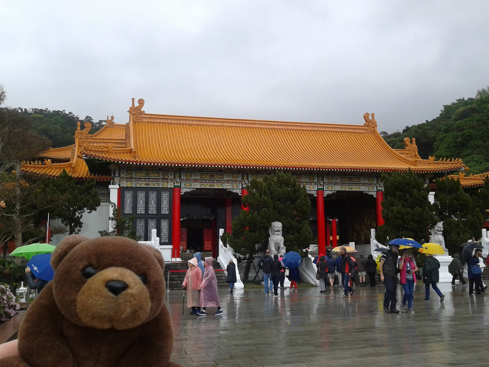 Teddy in Martyrs' Shrine, Taipei, Taiwan