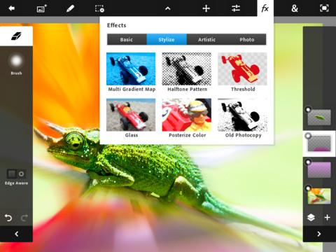 Adobe Photoshop Touch - ใส่ Effect ให้กับภาพ