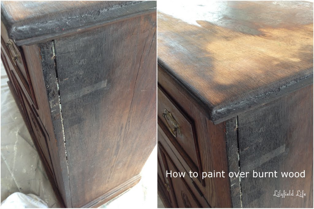 Lilyfield life how to paint burnt wood for Burned wood furniture