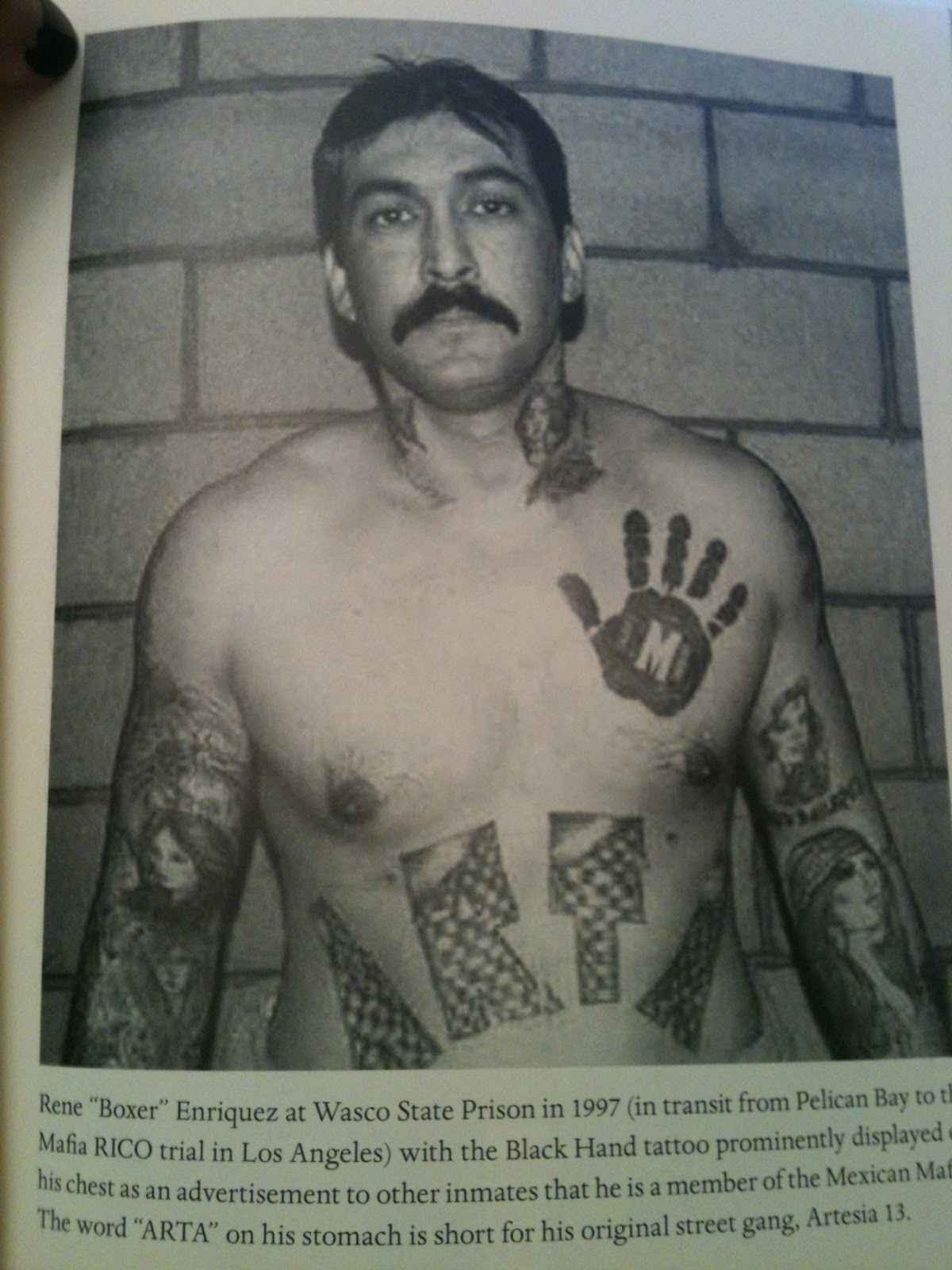 Know Gangs Gang Pictures Mexican Mafia Black Hand La Eme Tattoo