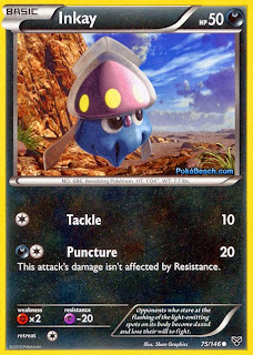 Inkay Pokemon X and Y Card