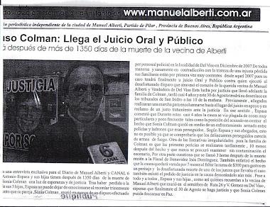 Diario - El Diario de la Ciudad de Manuel Alberti, Pilar