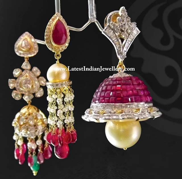 Designer Diamond Jhumkas