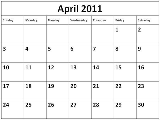 june 2011 calendar blank. lank 2011 calendar april.