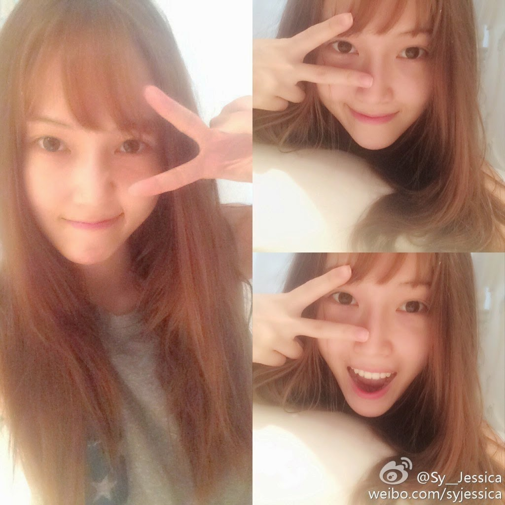 snsds jessica posed for a set of adorable selca pictures