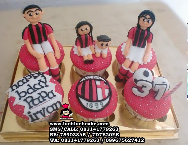 Cupcake Ulang Tahun Tema Ac Milan Daerah Surabaya - Sidoarjo