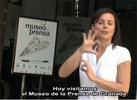 Telesigno explica el museo a la comunidad sorda