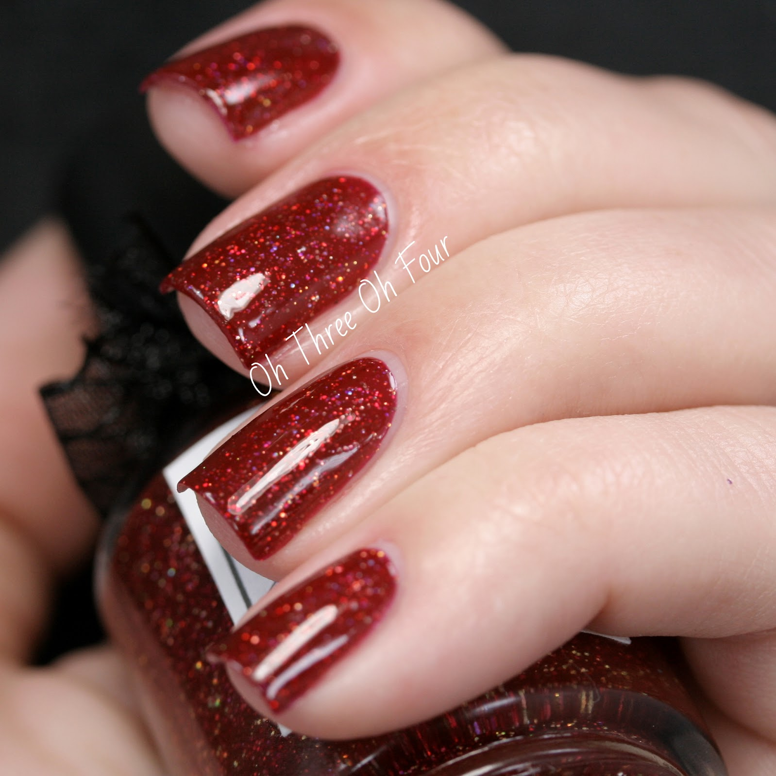 Deep Wine Nail Polish: Oh Three Oh Four: Lacquerhead Polish Behind Blue Eyes