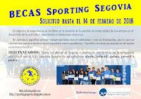 CONVOCATORIA BECAS SPORTING SEGOVIA 2017/2018. SOLICITUD HASTA EL 14 DE FEBRERO.