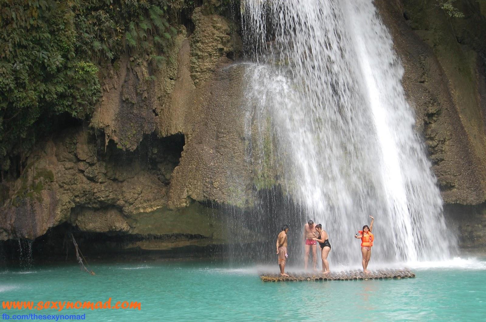 i am the sexy nomad kawasan falls and beach in badian cebu