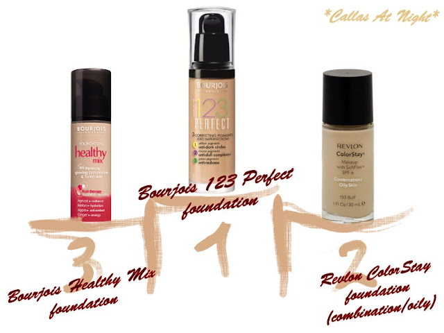 perfect foundation oily skin revlon colorstay bourjois 123 healthy mix