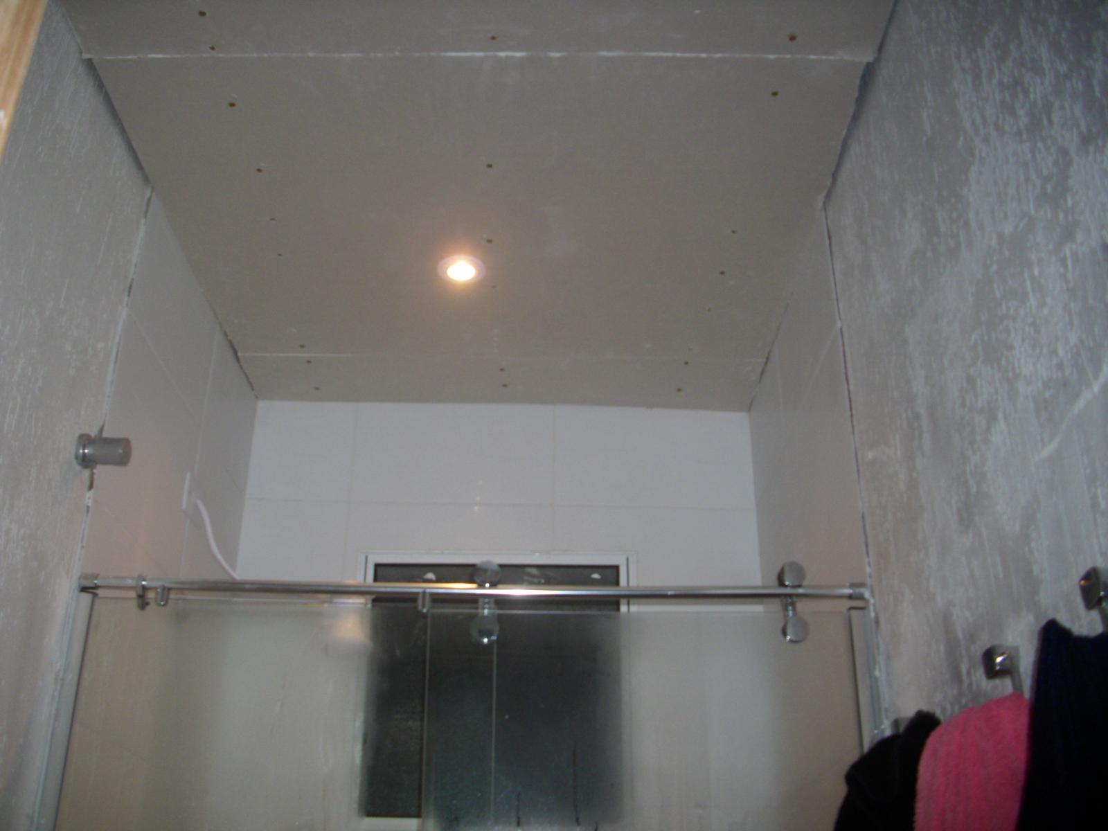 Faça Você Mesmo Rebaixando o teto com Drywall  Construindo Nossa House -> Drywall Banheiro Pequeno