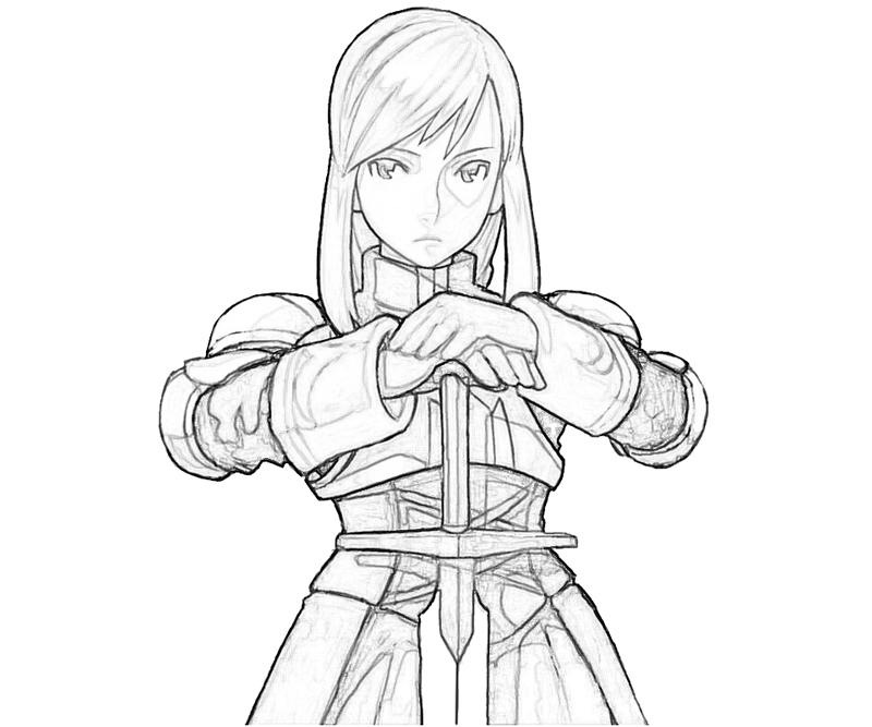 agrias-oaks-character-coloring-pages