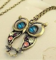 Owl Necklace Vintage