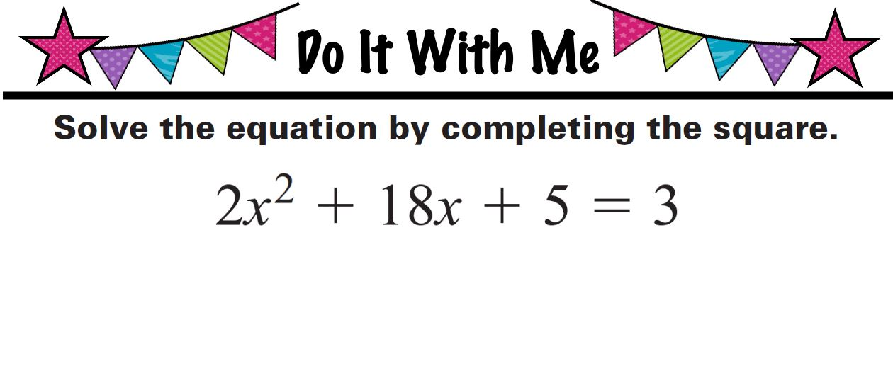Homework help completing the square