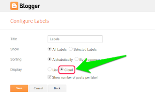 How to Customize Cloud Labels Widget for Blogger 21