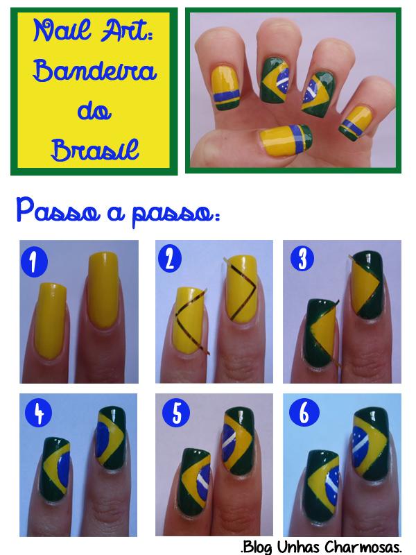 tutorial unha da bandeira do Brasil, tutorial unha para a Copa do Mundo, nail art, tutorial, Unhas para a Copa do Mundo 2014, unha da bandeira do Brasil, passo a passo unha da bandeira do Brasil, nail art para copa, Copa do Mundo 2014, unhas verde e amarelo