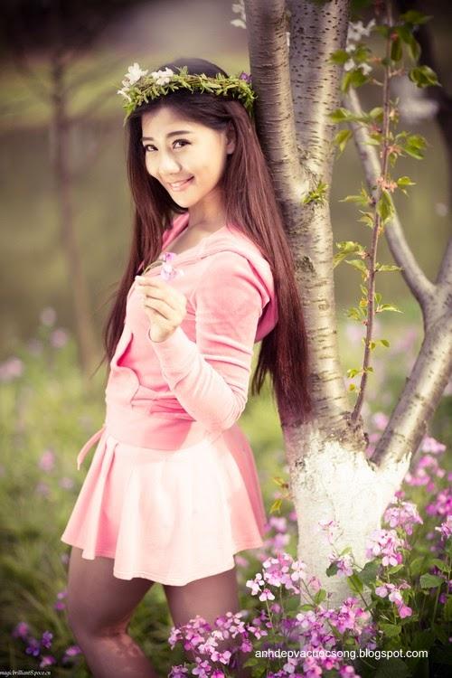 Váy hồng xinh xắn 3