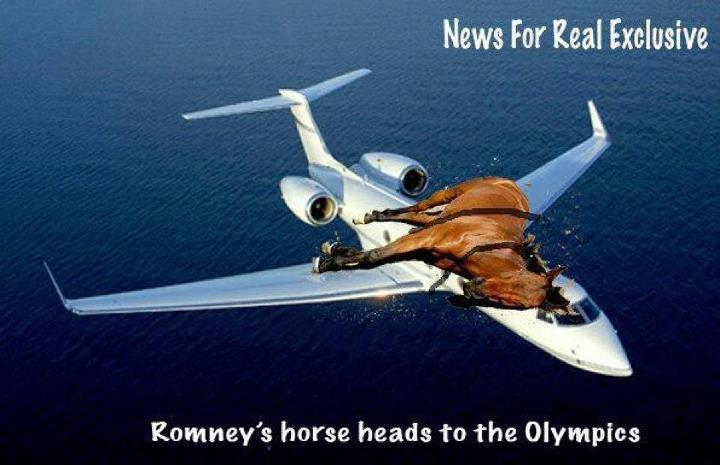 Picture of Romney's Horse heading to the Olympics
