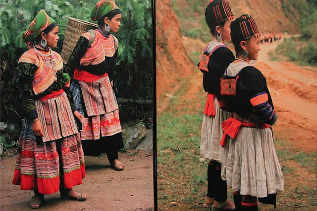 Flower Hmong costume, ethnic style, tribal fashion, traditional dress, Hill Tribe costume