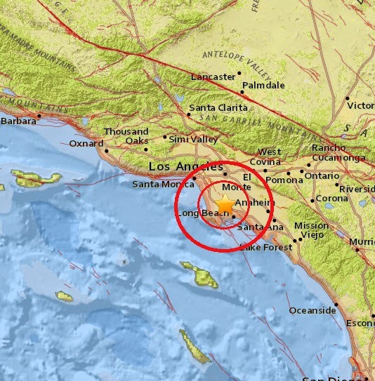 Magnitude 3.4 Earthquake of Carson, California 2015-04-30