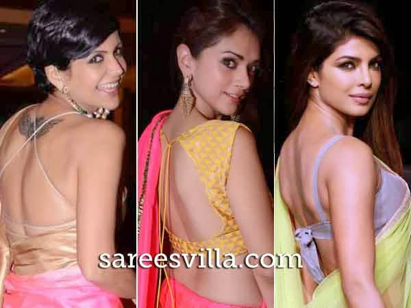 Celebs in Backless Blouses