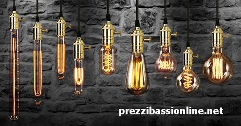 Lampadine Edison ad incandescenza con filamento