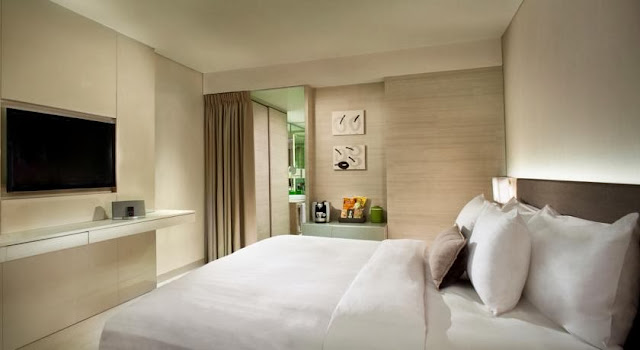 It is located toward the halt of the Jalan Pantai Kuta toward Legian Beaches in Bali: The Stones Hotel Legian Bali