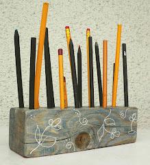 így lett egy stafnifából ceruzatartó...