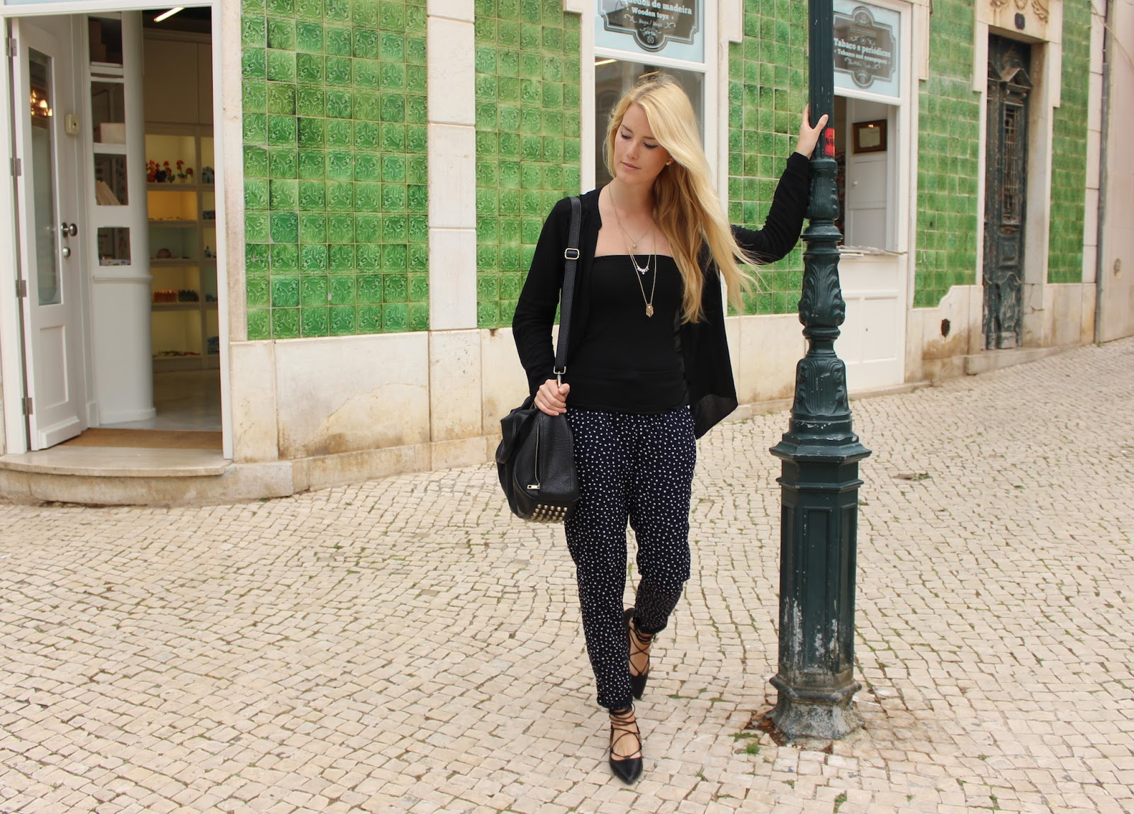 TheBlondeLion Algarve Look Travel Lagos Sagres Silves Lace up Flats