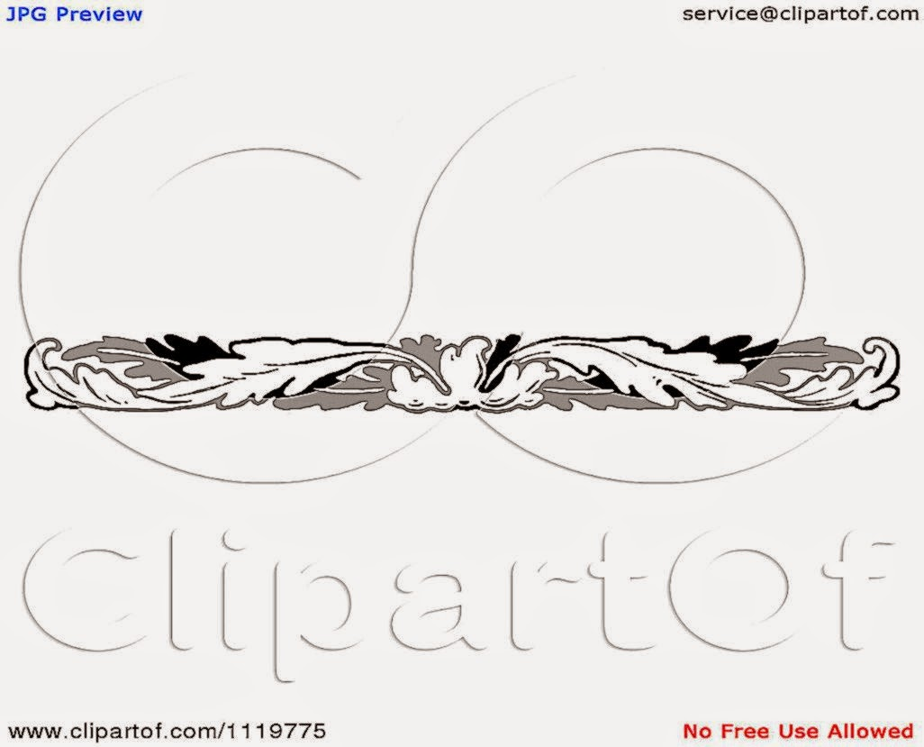 Clipart Of A Retro Vintage Black And White Leaf Border   Royalty