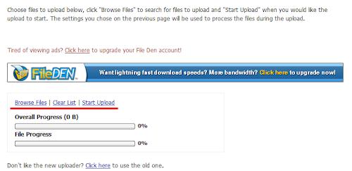 Загрузчик файлов сервиса Fileden.com