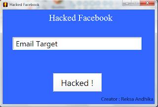 Cara menghack/membobol Facebook orang