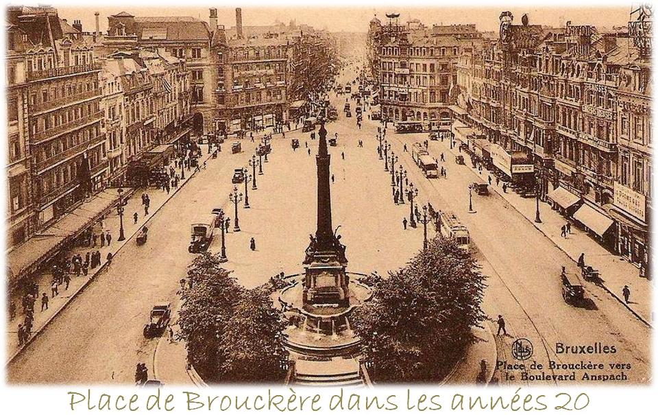 Place de Brouckère (Vue vers boulevard Anspach) - Années 20 - Bruxelles-Bruxellons