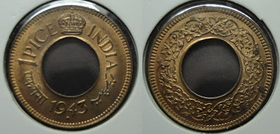 george vi one pice 1943 round crown