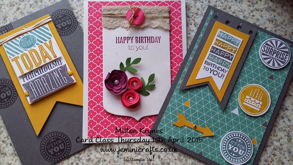 Jemini Crafts Stampin' Up Demonstrator Jenny mcCormac